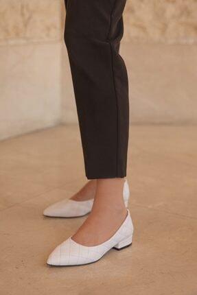 Straswans Worde Deri Topuklu Ayakkabı Beyaz 0