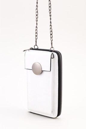 Espardile Kadın Zincir Askılı Mini Çanta 0449 3