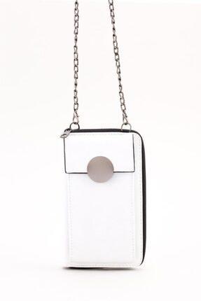 Espardile Kadın Zincir Askılı Mini Çanta 0449 4