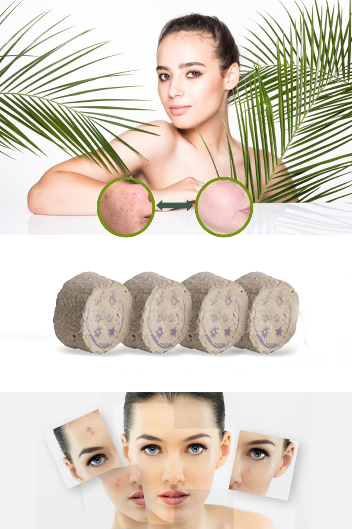 Xolo Hamam Taşı Doğal Kese Organik Peeling 4 Adet 8297415579408 0