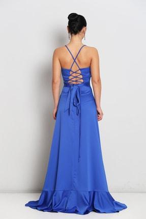 Elbisemhazır Saten Yırtmaç Detay Bayan Abiye 1