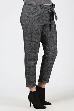 Womenice Kadın Gri Bel Bağlamalı Lastikli Büyük Beden Havuç Pantolon 0
