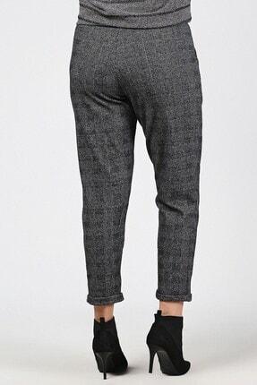 Womenice Kadın Gri Bel Bağlamalı Lastikli Büyük Beden Havuç Pantolon 1