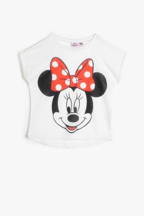 Koton Ekru Kız Çocuk T-Shirt 0