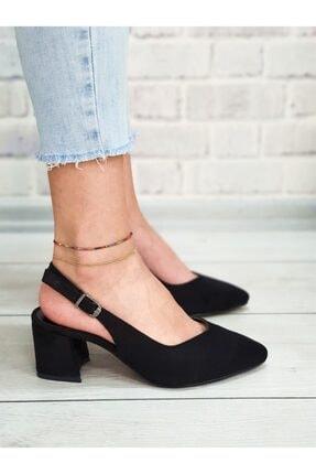 Yeni Elbisem Kadın Siyah Süet Topuklu Ayakkabı 1