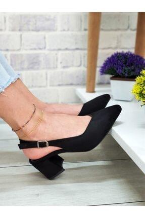 Yeni Elbisem Kadın Siyah Süet Topuklu Ayakkabı 2