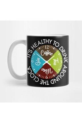TatFast Coffee Tea Wine Gin Drinks Around The Clock Is Healthy Gift Kupa 0