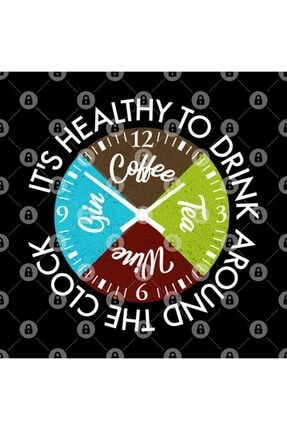 TatFast Coffee Tea Wine Gin Drinks Around The Clock Is Healthy Gift Kupa 2