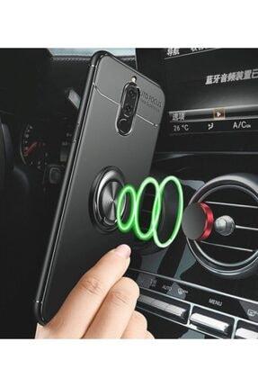 Kilifplus Huawei Mate 10 Lite Kılıf Auto Focus Serisi Standlı Yüzüklü Kapak - Kırmızı 2