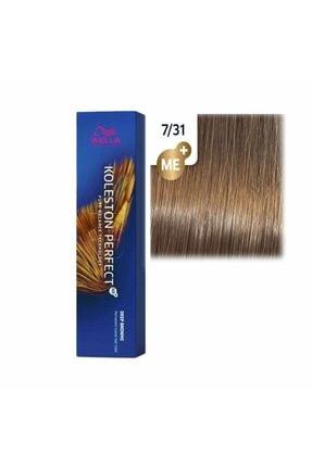 Wella Koleston Perfect Tüp Saç Boyası 7/31 Orta Altın Küllü Sarı 60 Ml 0