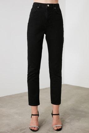 TRENDYOLMİLLA Siyah Yüksek Bel Bootcut Jeans TWOAW21JE0151 2