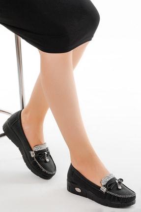 Ayakland Kadın Siyah Babet Ayakkabı Cns 181 0