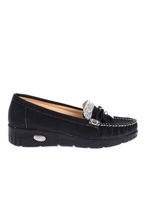 Ayakland Kadın Siyah Babet Ayakkabı Cns 181 2