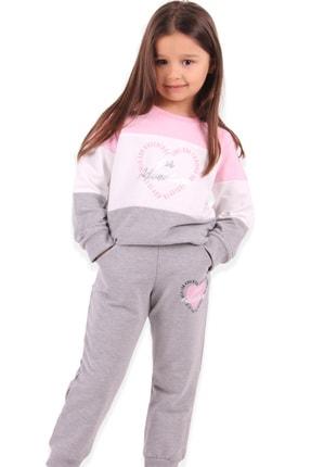 Breeze Kız Çocuk Eşofman Takımı Baskılı Pembe 0