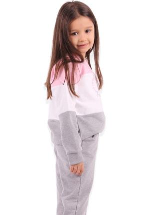Breeze Kız Çocuk Eşofman Takımı Baskılı Pembe 1