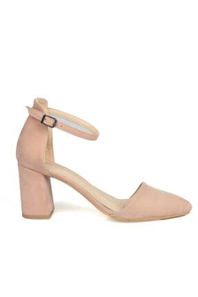 Kadın Pudra Topuklu Ayakkabı/pudra/40 NCL1460