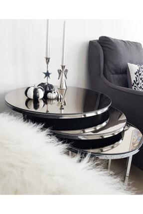 Avvio Home Louis 3'lü Aynalı Lüx Zigonsehpa(Gümüş -antrasit Ayna) 0