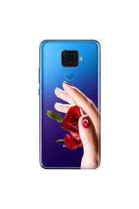 cupcase Huawei Mate 30 Lite Kılıf Esnek Silikon Kapak Türk Kadını Desenli + Nano Cam 0