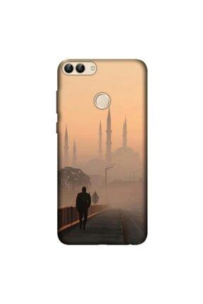 cupcase Huawei P Smart 2018 Kılıf Esnek Silikon Kapak Sultanahmet Cami Desenli + Nano Cam 0