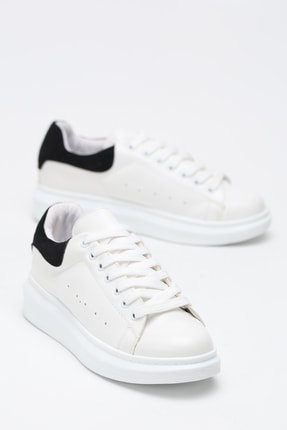 Ayakkabı Modası Kadın Siyah Beyaz Sneaker Spor Ayakkabı  5007-20-110001 0