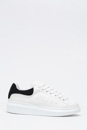 Ayakkabı Modası Kadın Siyah Beyaz Sneaker Spor Ayakkabı  5007-20-110001 1