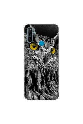 Cekuonline Realme C3 Kılıf Desenli Resimli Hd Silikon Telefon Kabı Kapak Baykuş Bakışı 0