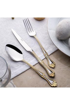 Nehir Lalezar Titanyum Gold 72 Parça Çatal Kaşık Bıçak Takımı 0