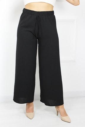 UGİMPOL Kadın Siyah Bol Paça Pantolon 0