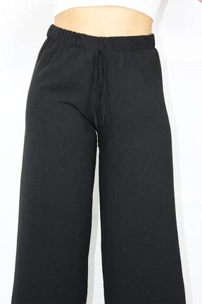 UGİMPOL Kadın Siyah Bol Paça Pantolon 1