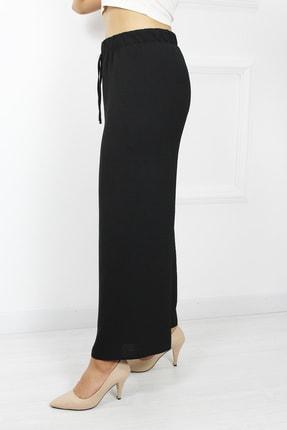 UGİMPOL Kadın Siyah Bol Paça Pantolon 2