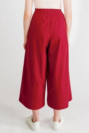 Streetbox Kadın Bordo Pileli Pantolon 4