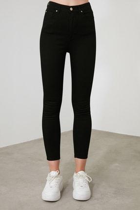 TRENDYOLMİLLA Solmayan Siyah Yüksek Bel Skinny Jeans TWOSS19LR0279 4