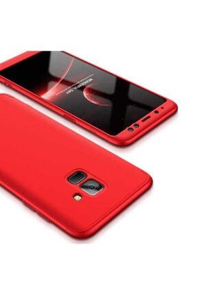 Dijimedia Galaxy A8 2018 Kılıf 360 3 Parçalı Rubber Koruma 4