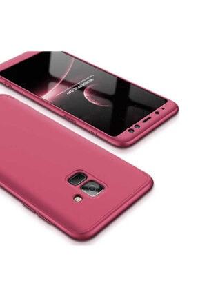Dijimedia Galaxy A8 2018 Kılıf 360 3 Parçalı Rubber Koruma 2