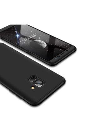 Dijimedia Galaxy A8 2018 Kılıf 360 3 Parçalı Rubber Koruma 0