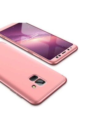 Dijimedia Galaxy A8 2018 Kılıf 360 3 Parçalı Rubber Koruma 3