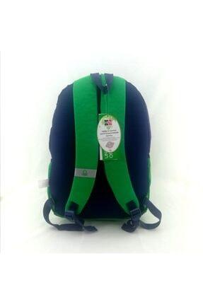 Benetton Unisex Lacivert Yeşil Okul Sırt Çantası 96015 2