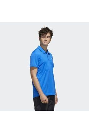 adidas Erkek Mavi Spor T-Shirt 2