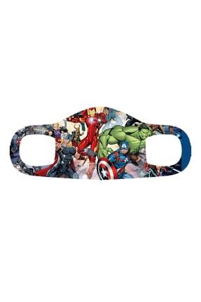 Phi Ajans Marvel Çocuk Maske Dijital Baskılı 5'li Set T-32 0