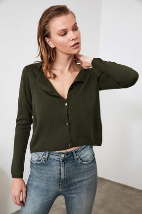 TRENDYOLMİLLA Zümrüt Yeşili Bluz Hırka Triko Takım  TWOAW21HI0111 3