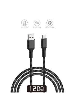 Nokta Huawei P40 Hızlı Şarj Usb Veri Kablosu 120cm - 2