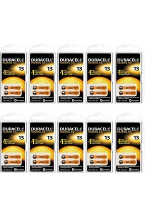 Duracell 13 Numara Kulaklık Pili 10 Paket 6'lı 0