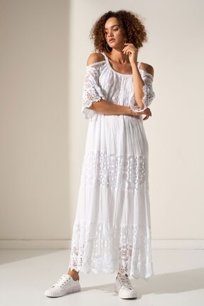 Camena Omzu Açık Dantelli Elbise 2019070500201 1