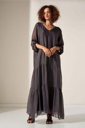 Camena V Yaka Ipek Elbise 2019070500175 0