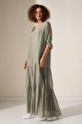 Camena V Yaka Ipek Elbise 2019070500197 1