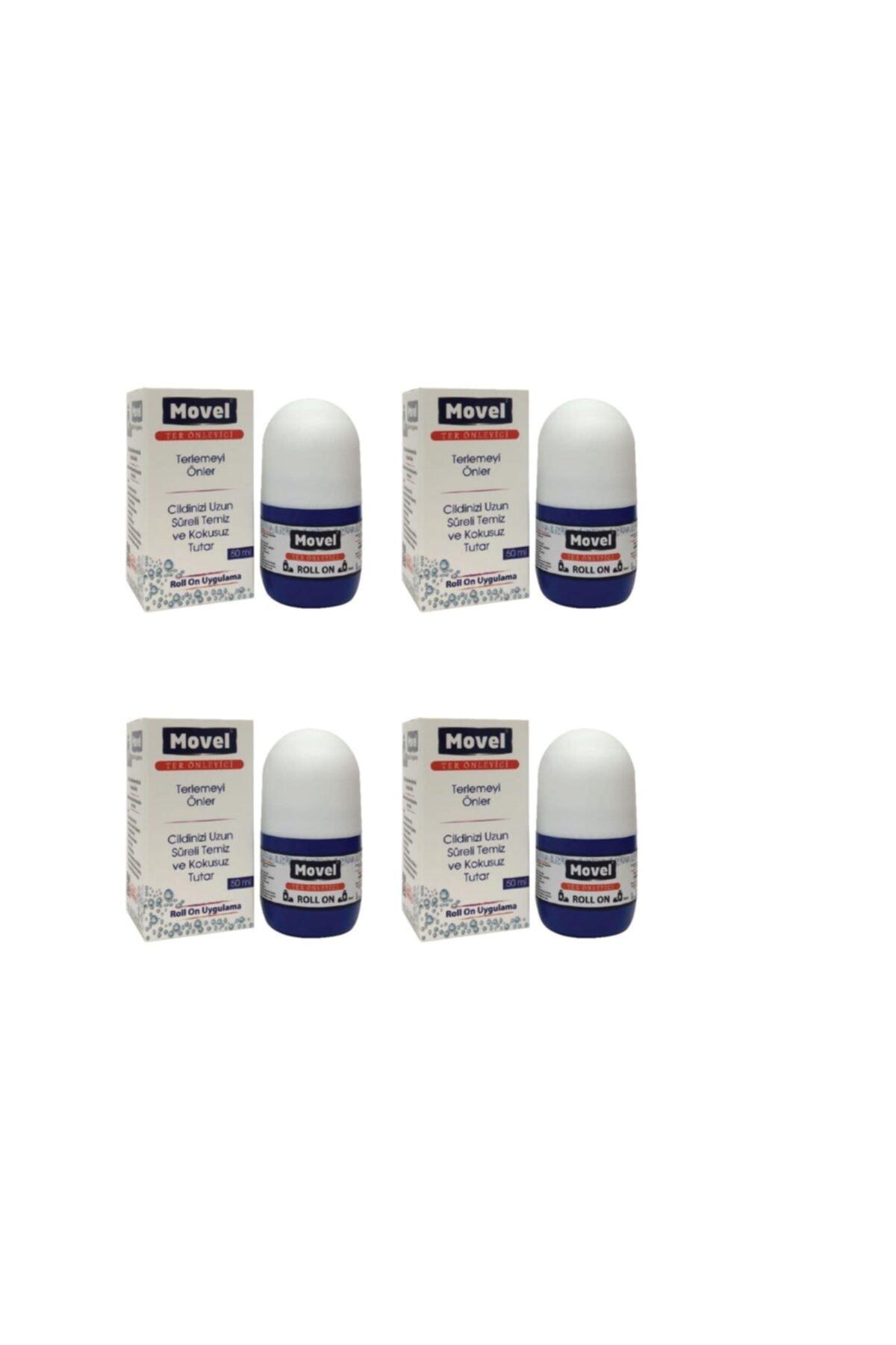 4 Adet Antiperspirant Ter Önleyici Ve Ter Kokusu Yok Edici Roll-on 50 ml