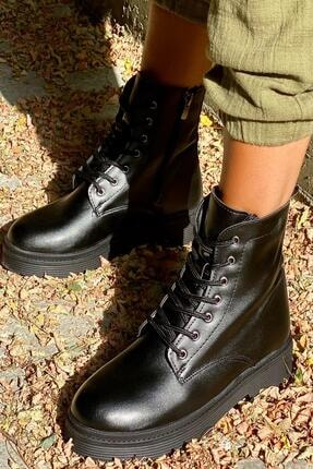 İnan Ayakkabı BAYAN SİYAH BOT&BOOTİE&POSTAL KY3040 3