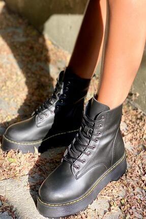 İnan Ayakkabı BAYAN SİYAH BOT&BOOTİE&POSTAL KY92503 2