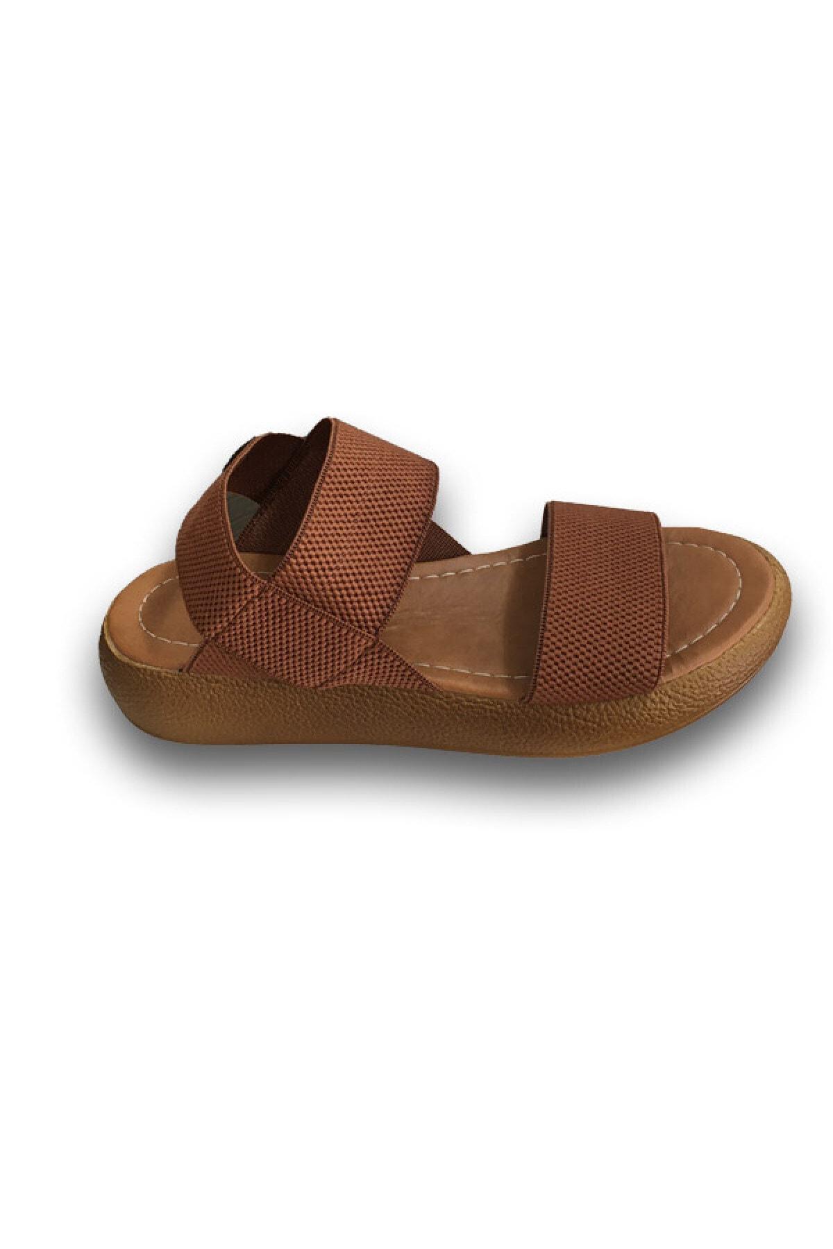 LUSSO Kadın Taba Sandalet