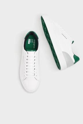 Bershka Erkek Beyaz Topuğu Renkli Detaylı Spor Ayakkabı 1